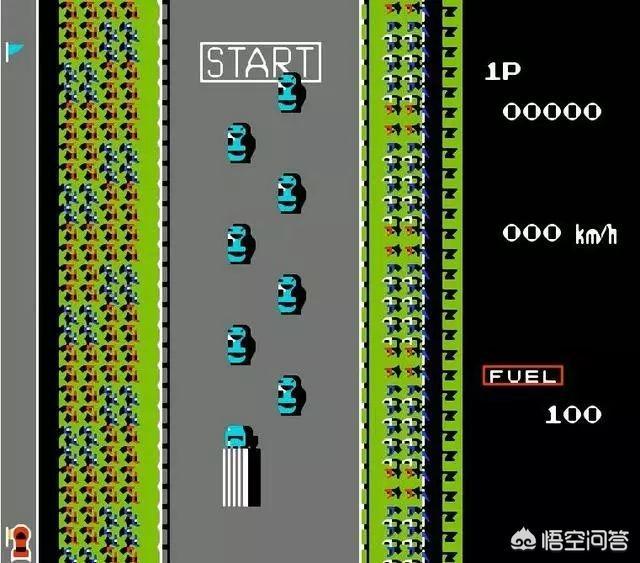 经典FC游戏《公路赛车》如果可以使用大货车,会出现什么有意思的效果呢?