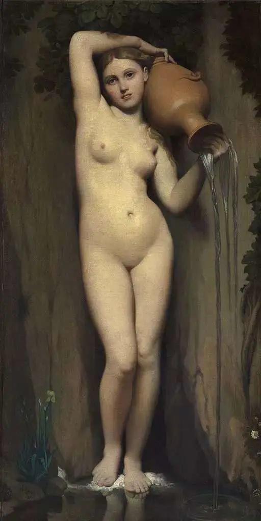 世界名画《土耳其浴室》,如何理解安格尔的这幅油画?