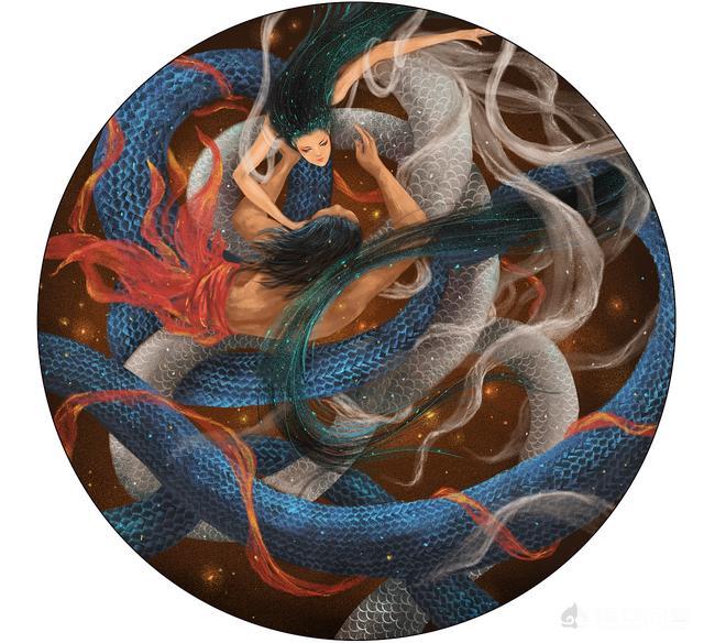 """人类祖先伏羲和女娲都是蛇,作为后代的华夏族群为什么叫做""""龙的传人""""?"""