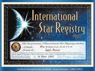 关于NASA命名星星的证书怎么获得?